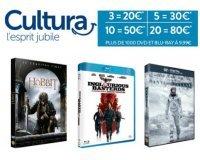 Cultura: 20 DVD ou Blu-ray pour 80€ (ou 3 pour 20€, 5 pour 30€ et 10 pour 50€)