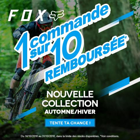 Code promo Probikeshop : 1 chance sur 10 d'avoir votre commande contenant un article Fox remboursée