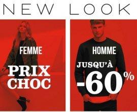 New Look: Prix Choc : jusqu'à - 60% sur une sélection d'articles de mode