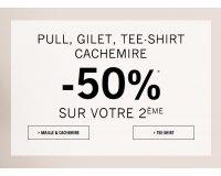 1.2.3: -50% sur votre 2e pull, gilet, tee-shirt et cachemire
