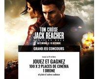 Jeux Vidéo and Co: Jack Reacher: Never Go Back : 200 places de ciné, 1 drône et des goodies