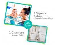 Carrefour: 3 séjours en thalasso et 1 chambre Disney Baby à gagner