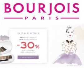 Bourjois: Jusqu'à -30% dès 3 produits achetés