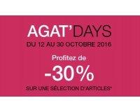 Agatha: Agat'days : -30% sur une sélection d'articles