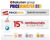 PriceMinister: De 10 à 15% remboursés sur les produits d'occasion et reconditionnés