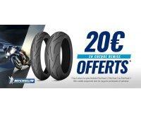 Dafy Moto: 1 pneu moto Michelin Pilot Road 2, 3 ou 4 acheté = 1 chèque remise de 20€ offert