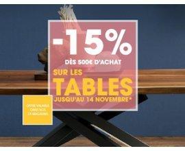 4 Pieds: -15% dès 500€ d'achat sur les tables
