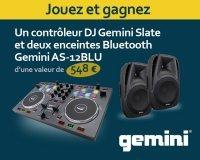 KR home-studio: 1 contrôleur DJ Gemini Slate & 2 enceintes Bluetooth Gemini à gagner