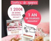 Becquet: 1200€ de bons d'achat Becquet & 1 an de courses Chronodrive à gagner