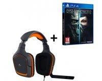 Cdiscount: Dishonored 2 édition limitée sur PS4 + Casque Gamer Logitech G231 à 59,55€