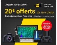 Fnac: [Offre adhérents] 20€ offerts dès 150€ d'achat sur tout le site