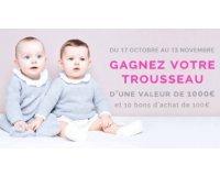 Jacadi: Trousseau de naissance (valeur 1000€) & 10 bons d'achat de 100€ à gagner