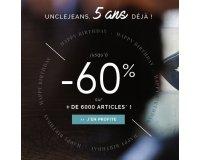 Uncle Jeans: Offre anniversaire : jusqu'à -60% sur une sélection d'articles