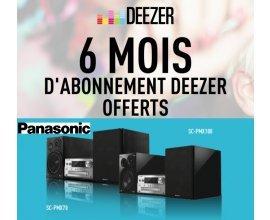 Panasonic: 1 micro-chaîne hi-fi achetée = 6 mois d'abonnement à Deezer offerts