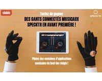 Clubic: 2 gants connectés musicaux Specktr à gagner