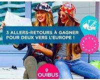 OUIBUS: 3 allers-retours pour deux vers l'Europe à gagner
