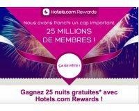 Hotels.com: Tentez de remporter 25 nuits d'hôtels
