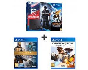 pack ps4 slim 1to 5 jeux dont uncharted 4 destiny et overwatch 369 99 auchan. Black Bedroom Furniture Sets. Home Design Ideas