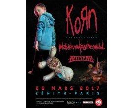 OÜI FM: Des places pour le concert de Korn le 20/03/2017 à Paris à gagner