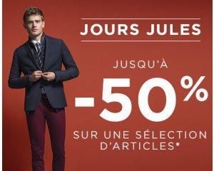 Jules: Jours Jules : Jusqu'à 50% de réduction sur une sélection d'articles