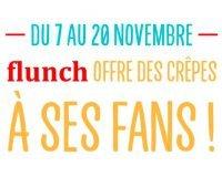 Flunch: Dégustation d'une crêpe au sucre gratuite  du 7 au 20 novembre