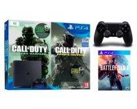 Micromania: PS4 Slim 1To + CoD Infinite & Modern Warfare + 2e manette + Battlefield 1 à 370€