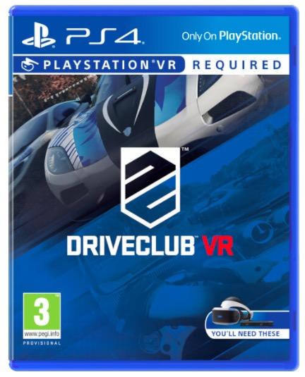 Code promo Amazon : Jeu DriveClub VR - PSVR PS4 à 19,99€