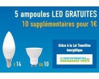 Mes Ampoules Gratuites: Transition Energétique: 5 ampoules led Gratuites, 10 en + pour 1€ ou 20 pour 2€