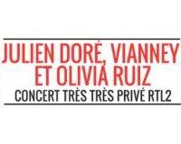 RTL2: Places pour le concert privé de Julien Doré, Vianney, Olivia Ruiz à gagner