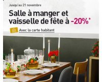 Habitat: - 20% sur une sélection de meubles de Salle à manger et vaisselle de fête