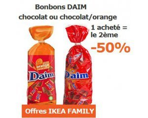 bonbons daim 1 achet le 2 me au choix 50 ikea. Black Bedroom Furniture Sets. Home Design Ideas