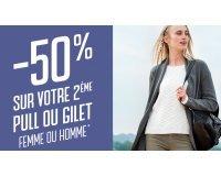 GÉMO: 50% de réduction sur l'achat d'un deuxième pull ou gilet homme et femme