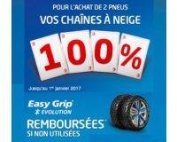 Euromaster: 2 achetés pneus = des chaines à neige Easy Grip 100% remboursées