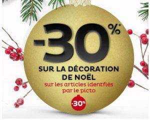 30 sur une s lection d 39 articles de d coration de no l tati - Tati decoration noel ...