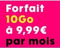 Sosh: Forfait mobile tout illimité + 10 Go d'Internet pour 9,99€ / mois pendant 1 an