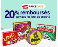 PriceMinister: 20% remboursés en Super Points sur tous les jeux et jouets