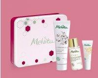 Melvita: Une boîte métal contenant 3 soins nourrissants format voyage dès 35€