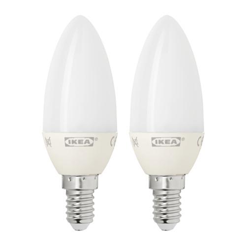 Code promo IKEA : Ampoules à LED Ryet E14 200 lumen à 4€ les 2 au lieu de 5€
