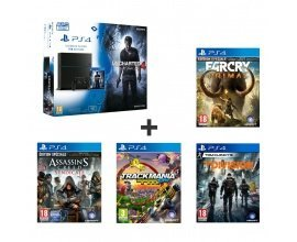 Auchan: Pack console PS4 1To Uncharted 4 : The Division, Far Cry Primal et 2 autres jeux