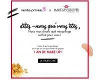 Vente Privée: Tentez de gagner 1 an de maquillage avec Make Up For Ever