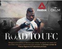 Reebok: 1 weekend aux USA pour 2 pour assister à un combat UFC à gagner