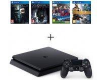 Cdiscount: PS4 Slim 500 Go + 4 Jeux : Dishonored 1 & 2 + Destiny + PES17 à 299,99€