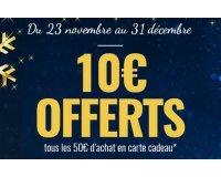 Dafy Moto: Offrez une carte cadeau et obtenez 10€ de plus par palier de 50€