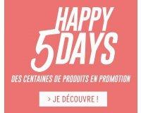 Cache Cache: Happy 5 Days : jusqu'à -50% sur une sélection d'articles + -10% supplémentaires