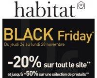 Habitat: Black Friday : - 20% sur tout le site et jusqu'à - 50% sur une sélection