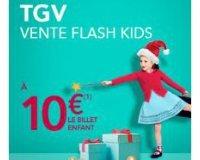Voyages SNCF: 10€ le billet enfant pour l'achat d'un billet adulte