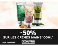 The Body Shop:  -50% sur les Crèmes mains 100ml