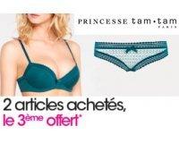 Princesse tam.tam: 2 articles lingerie achetés = le troisième offert