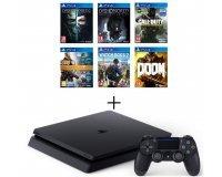 Cdiscount: PS4 Slim 500 Go + 6 jeux (dont Watch Dogs 2 et CoD Infinite Warfare) à 349,99€