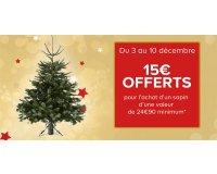 Castorama: 1 sapin acheté = 15€ offerts en carte cadeau